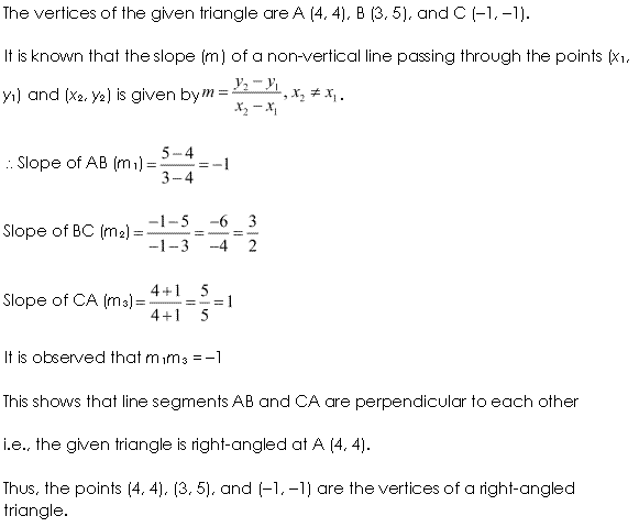 NCERT Solutions for Class 11 Maths Chapter 10 Straight Lines Ex 10.1 Q6.1