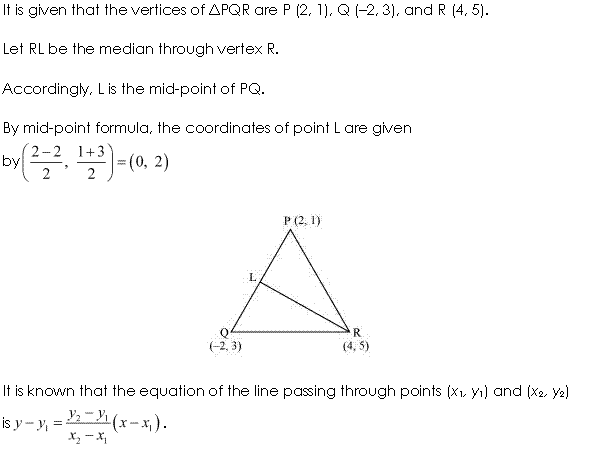 NCERT Solutions for Class 11 Maths Chapter 10 Straight Lines Ex 10.2 Q9.1