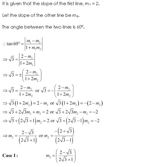 NCERT Solutions for Class 11 Maths Chapter 10 Straight Lines Ex 10.3 Q12.1
