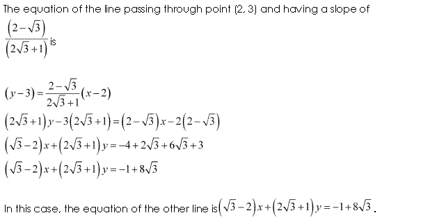 NCERT Solutions for Class 11 Maths Chapter 10 Straight Lines Ex 10.3 Q12.2