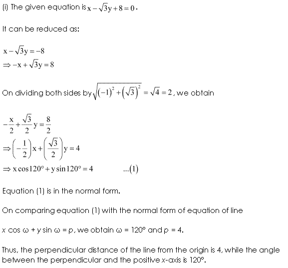 NCERT Solutions for Class 11 Maths Chapter 10 Straight Lines Ex 10.3 Q3.1