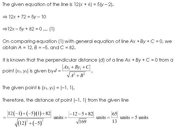 NCERT Solutions for Class 11 Maths Chapter 10 Straight Lines Ex 10.3 Q4.1