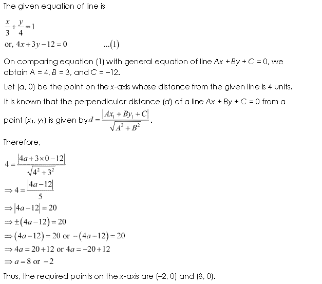 NCERT Solutions for Class 11 Maths Chapter 10 Straight Lines Ex 10.3 Q5.1