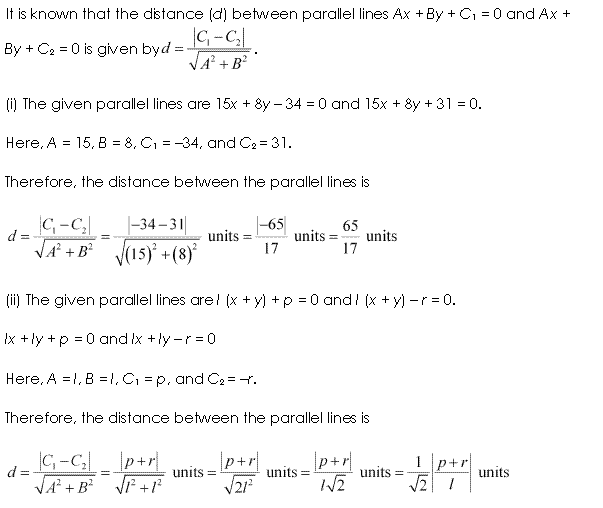 NCERT Solutions for Class 11 Maths Chapter 10 Straight Lines Ex 10.3 Q6.1
