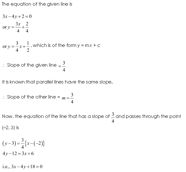 NCERT Solutions for Class 11 Maths Chapter 10 Straight Lines Ex 10.3 Q7.1