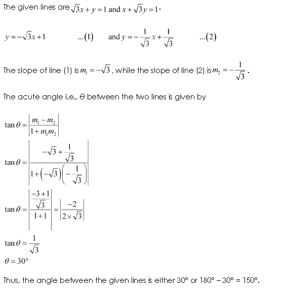 NCERT Solutions for Class 11 Maths Chapter 10 Straight Lines Ex 10.3 Q9.1
