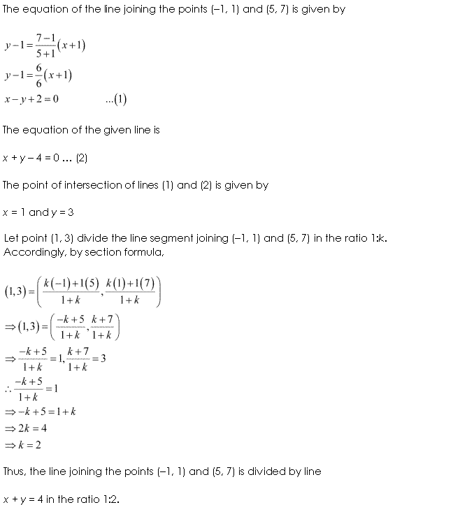 NCERT Solutions for Class 11 Maths Chapter 10 Straight Lines Miscellaneous Ex Q14.1