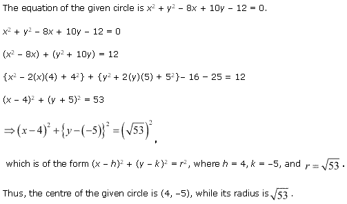 NCERT Solutions for Class 11 Maths Chapter 11 Conic Sections Ex 11.1 Q8.1