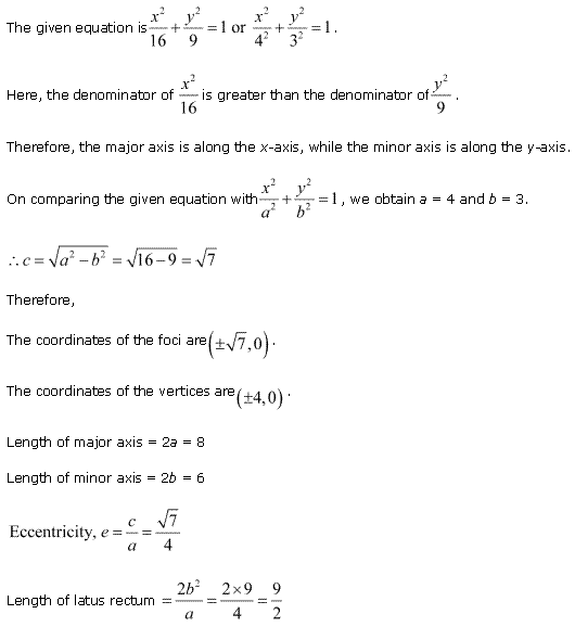 NCERT Solutions for Class 11 Maths Chapter 11 Conic Sections Ex 11.3 Q3.1