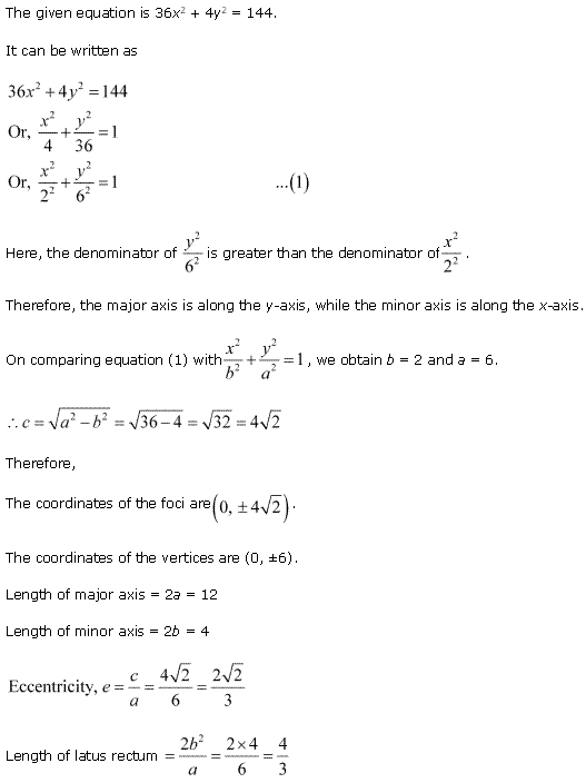 NCERT Solutions for Class 11 Maths Chapter 11 Conic Sections Ex 11.3 Q7.1