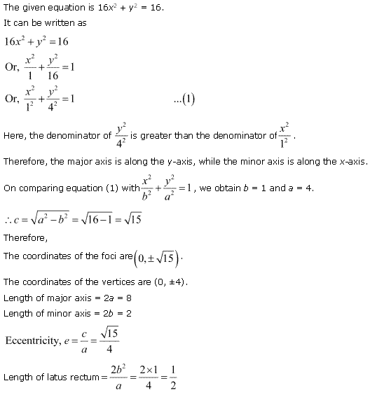 NCERT Solutions for Class 11 Maths Chapter 11 Conic Sections Ex 11.3 Q8.1