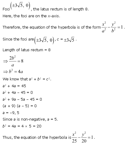 NCERT Solutions for Class 11 Maths Chapter 11 Conic Sections Ex 11.4 Q12.1