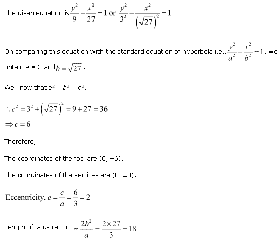 NCERT Solutions for Class 11 Maths Chapter 11 Conic Sections Ex 11.4 Q2.1