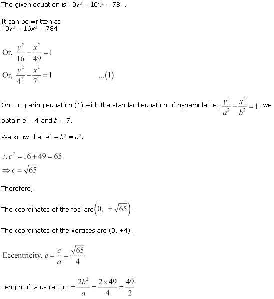 NCERT Solutions for Class 11 Maths Chapter 11 Conic Sections Ex 11.4 Q6.1