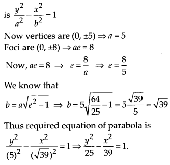 NCERT Solutions for Class 11 Maths Chapter 11 Conic Sections Ex 11.4 Q8