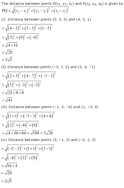 NCERT Solutions for Class 11 Maths Chapter 12 Introduction to three Dimensional Geometry Ex 12.2 Q1.1