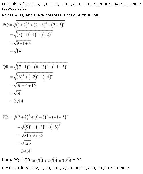NCERT Solutions for Class 11 Maths Chapter 12 Introduction to three Dimensional Geometry Ex 12.2 Q2.1
