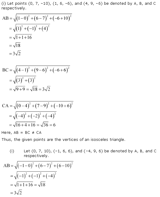 NCERT Solutions for Class 11 Maths Chapter 12 Introduction to three Dimensional Geometry Ex 12.2 Q3.1