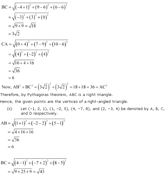 NCERT Solutions for Class 11 Maths Chapter 12 Introduction to three Dimensional Geometry Ex 12.2 Q3.2