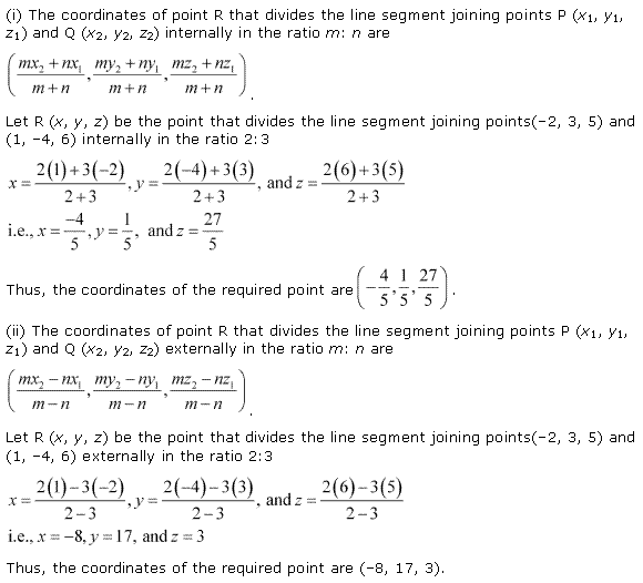 NCERT Solutions for Class 11 Maths Chapter 12 Introduction to three Dimensional Geometry Ex 12.3 Q1.1