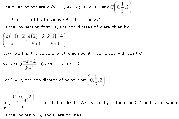 NCERT Solutions for Class 11 Maths Chapter 12 Introduction to three Dimensional Geometry Ex 12.3 Q4.1