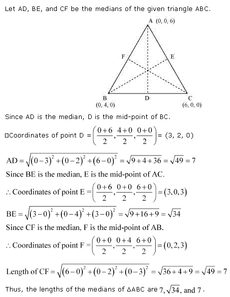 NCERT Solutions for Class 11 Maths Chapter 12 Introduction to three Dimensional Geometry Miscellaneous Ex Q2.1