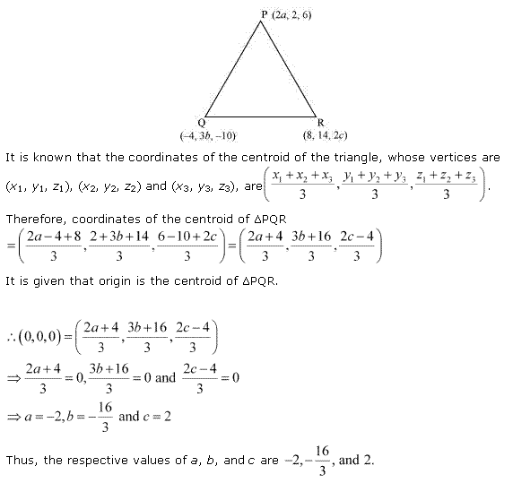 NCERT Solutions for Class 11 Maths Chapter 12 Introduction to three Dimensional Geometry Miscellaneous Ex Q3.1