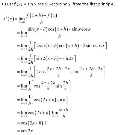 NCERT Solutions for Class 11 Maths Chapter 13 Limits and Derivatives Ex 13.2 Q11.1