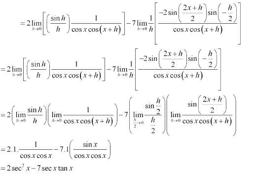 NCERT Solutions for Class 11 Maths Chapter 13 Limits and Derivatives Ex 13.2 Q11.10