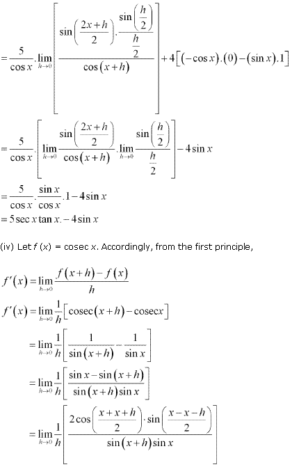 NCERT Solutions for Class 11 Maths Chapter 13 Limits and Derivatives Ex 13.2 Q11.5