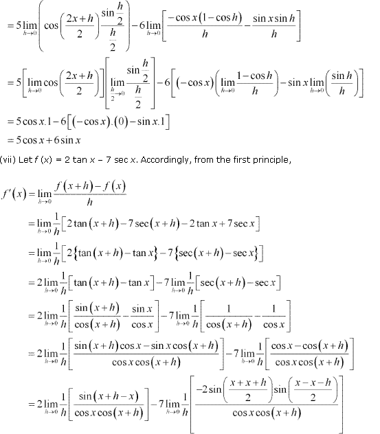 NCERT Solutions for Class 11 Maths Chapter 13 Limits and Derivatives Ex 13.2 Q11.9