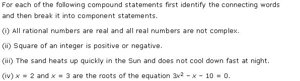 NCERT Solutions for Class 11 Maths Chapter 14 Mathematical Reasoning Ex 14.3 Q1