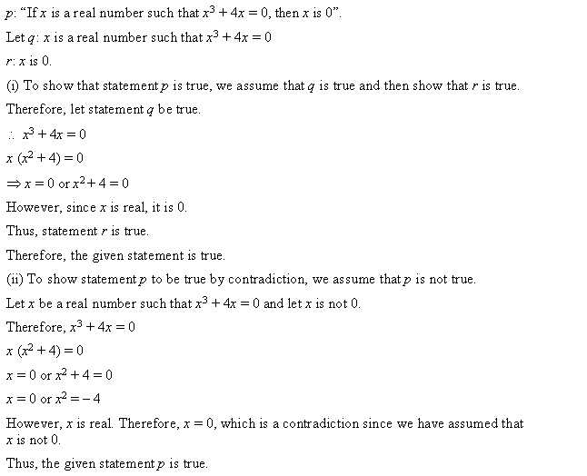 NCERT Solutions for Class 11 Maths Chapter 14 Mathematical Reasoning Ex 14.5 Q1.1