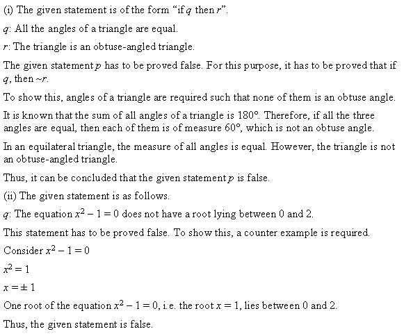 NCERT Solutions for Class 11 Maths Chapter 14 Mathematical Reasoning Ex 14.5 Q4.1