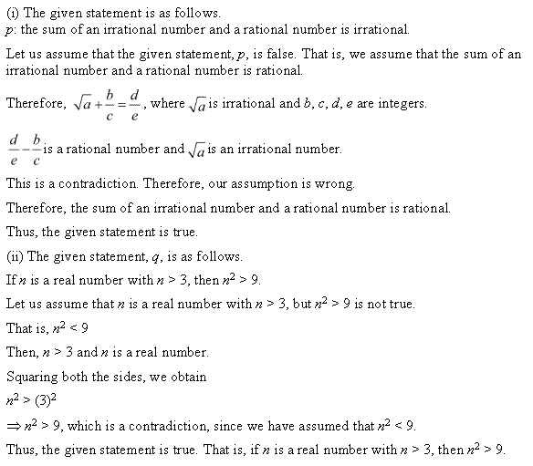 NCERT Solutions for Class 11 Maths Chapter 14 Mathematical Reasoning Miscellaneous Ex Q6.1