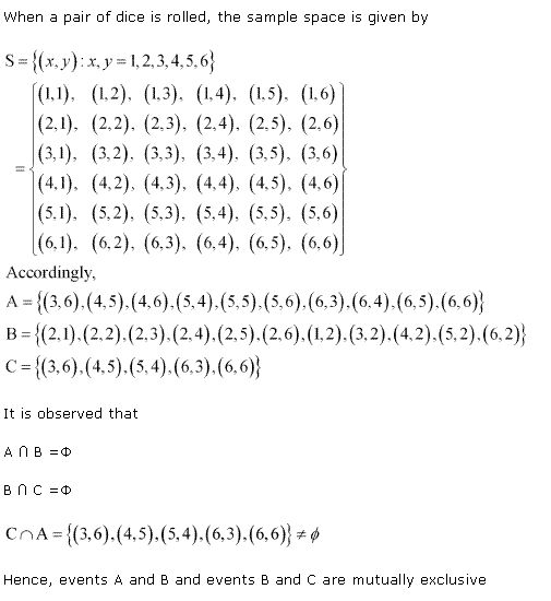 NCERT Solutions for Class 11 Maths Chapter 16 Probability Ex 16.2 Q3.1