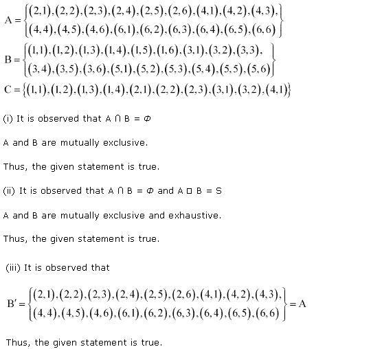 NCERT Solutions for Class 11 Maths Chapter 16 Probability Ex 16.2 Q7.1