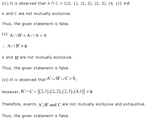 NCERT Solutions for Class 11 Maths Chapter 16 Probability Ex 16.2 Q7.2