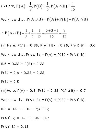 NCERT Solutions for Class 11 Maths Chapter 16 Probability Ex 16.3 Q13.1