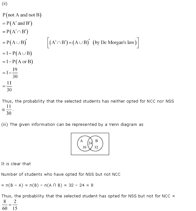 NCERT Solutions for Class 11 Maths Chapter 16 Probability Ex 16.3 Q21.2