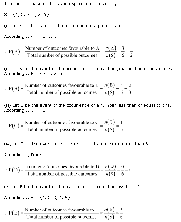 NCERT Solutions for Class 11 Maths Chapter 16 Probability Ex 16.3 Q3.1