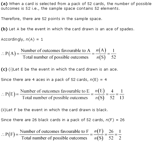 NCERT Solutions for Class 11 Maths Chapter 16 Probability Ex 16.3 Q4.1
