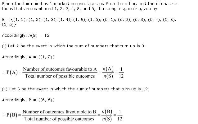 NCERT Solutions for Class 11 Maths Chapter 16 Probability Ex 16.3 Q5.1