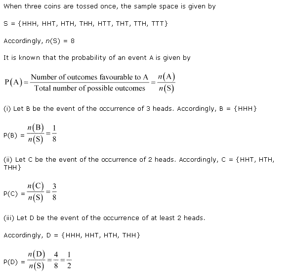 NCERT Solutions for Class 11 Maths Chapter 16 Probability Ex 16.3 Q8.1