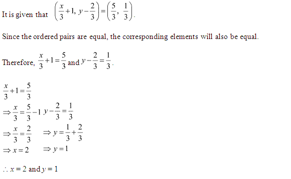 NCERT Solutions for Class 11 Maths Chapter 2 Relations and Functions Ex 2.1 Q1.1