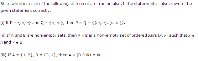 NCERT Solutions for Class 11 Maths Chapter 2 Relations and Functions Ex 2.1 Q4