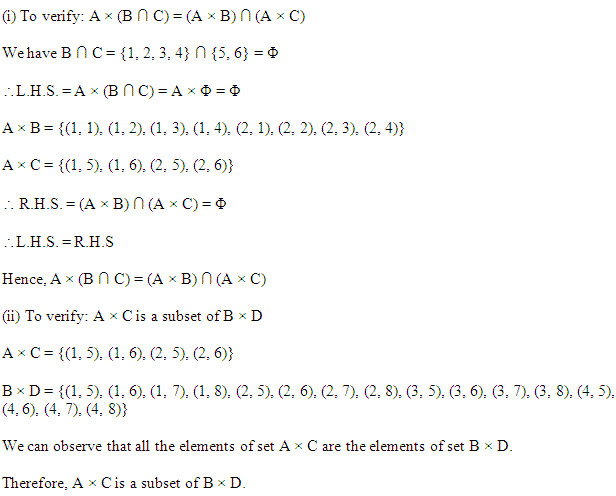 NCERT Solutions for Class 11 Maths Chapter 2 Relations and Functions Ex 2.1 Q7.1