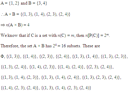 NCERT Solutions for Class 11 Maths Chapter 2 Relations and Functions Ex 2.1 Q8.1
