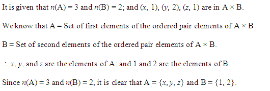 NCERT Solutions for Class 11 Maths Chapter 2 Relations and Functions Ex 2.1 Q9.1