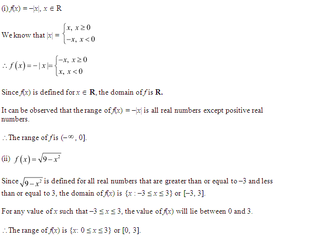 NCERT Solutions for Class 11 Maths Chapter 2 Relations and Functions Ex 2.3 Q2.1